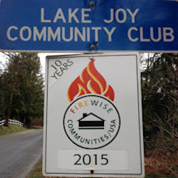 lake joy sign